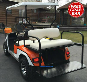 EZGO TXT/MEDAL/PDS GOLF CART REAR SEAT KIT-OFF WHITE(MATCHES FACTORY on white and blue golf cart, white go cart, white custom golf cart, white yamaha golf cart, white gas golf cart, white hummer golf cart,