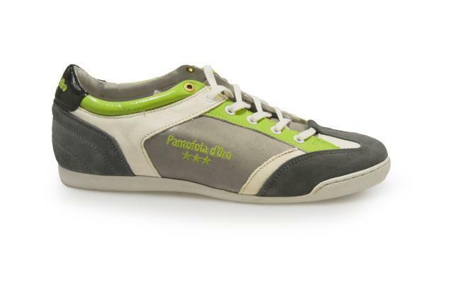 Mens Pantfofola - d'Oro Piacenza Low Men SMU - 0404833JW - Pantfofola Grey Green Trainers 4f806d