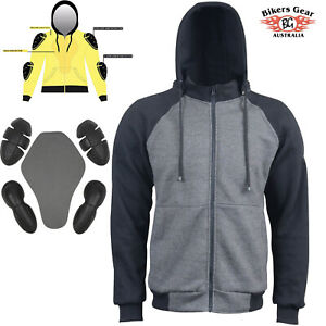 Made With KevlaR Motorcycle Hoodie Full Protective Armour Line Fleece Protection