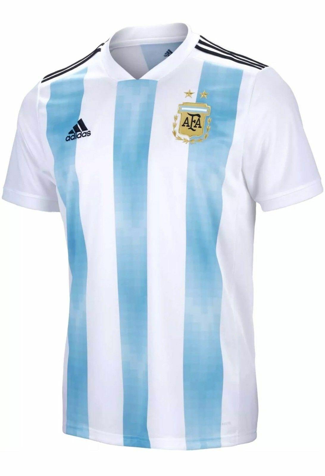 2018 World Cup argentoina National Soccer squadra Jersey Mens Adidas BQ9324