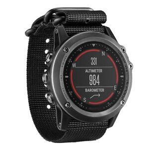 Details About For Garmin Fenix 3 Hr Nylon Strap Wrist Watch Band Black Dt