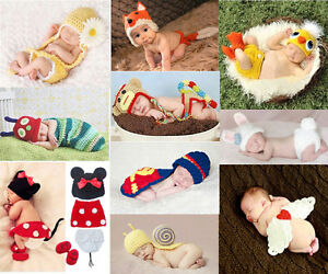 NEW-born-Baby-Girl-Boy-Crochet-Knit-Costume-Clothes-Photo-Photography-Prop-Hat