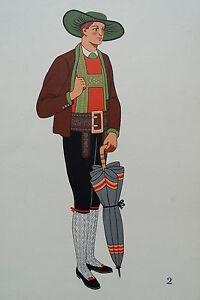 -2-5-2 Gravure Costume Paysan De Pustertal Autriche