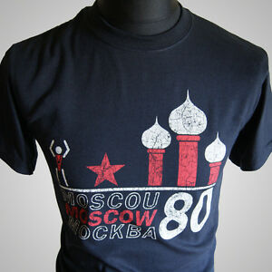 Moscow-1980-Olympic-Games-Retro-Vintage-T-Shirt-CCCP-Russia-USSR-Classic-80-039-s