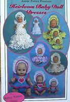 Crochet Heirloom Baby Doll Dresses Patterns An Annie Potter Original
