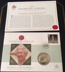 Ltd Ed QE II Diamond Jubilee 19522012 Fiji 10 Coin amp Stamp FDC - Snodland, Kent, United Kingdom - Ltd Ed QE II Diamond Jubilee 19522012 Fiji 10 Coin amp Stamp FDC - Snodland, Kent, United Kingdom