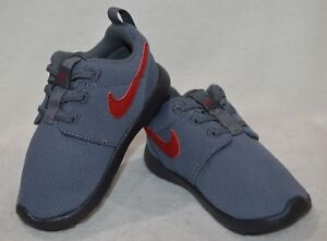 official photos ea89d f06a1 Image is loading Nike-Roshe-One-TDV-Grey-Red-Anthr-Toddler-