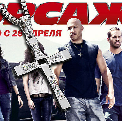 Hot THE FAST and The FURIOUS Dominic Toretto's CROSS PENDANT Chain Necklace