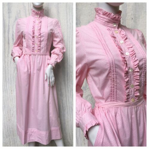 Dress Prairie Vintage LAURA ASHLEY 80s Carno Wales