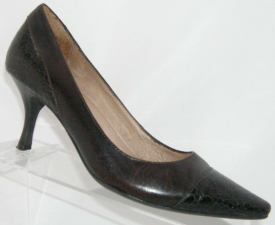 Circa Joan & David 'Dayna' brown pointed heel toe leather luxe series heel pointed 7M f68c50