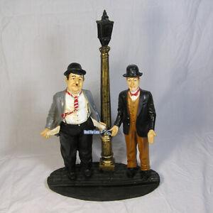 Dick-und-Doof-Figur-Dekofigur-Laterne-Statue-Skulptur-Stan-und-Oli-Deko-Fan