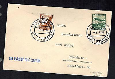 1933 Germany Graf Zeppelin LZ 127 Postcard Cover to Recife Brazil #C35 | eBay