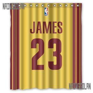 "New Lebron James 23 Cleveland Cavs Basket Ball Custom Shower Curtain 60 x 72 """