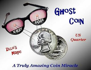 GHOST COIN - (Quarter Version) Totally Amazing Coin Magic