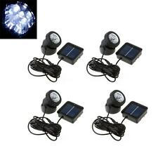4x Waterproof Solar Powered LED Spot Light Lamp Garden Pool Pond Outdoor US