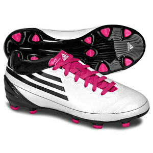 hot sale online cd066 21e54 Image is loading adidas-F10-TRX-FG-2010-Soccer-Shoes-White-