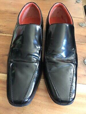 Mens Jeff Banks Black Leather Shoe Size