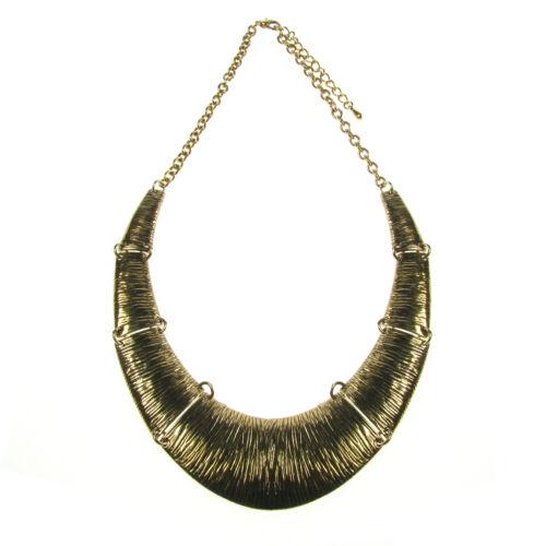 Impresionante chunkyl oro Torque Cuello declaración collar de diseñador estilo Lagenlook