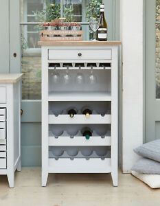 Image Is Loading Signature Painted Grey Limed Oak Top Wine Rack