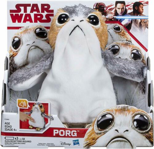 Authentic Sounds Star Wars The Last Jedi Porg Electronic Plush NEW Hasbro