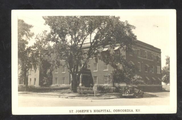 Concordia Kansas birds eye view St Josephs Hospital real