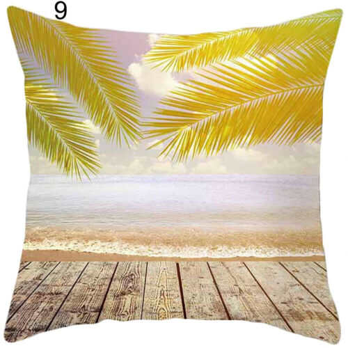 SUMMER BEACH SEASIDE STYLE PILLOWCASE CUSHION COVER HOME SOFA BED DECOR STUNNING