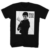 Bruce Lee Mens T-shirt Bruce Lee In 100% Black Cotton In Sizes Sm - 5xl