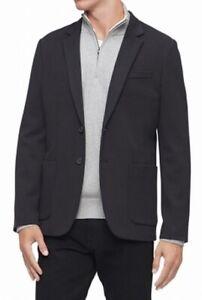 Calvin-Klein-Mens-Knit-Blazer-Black-Size-Medium-M-Notched-Two-Button-198-174