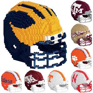 NCAA College Football Team Logo 3D Helmet Puzzle BRXLZ Set - Pick Team!