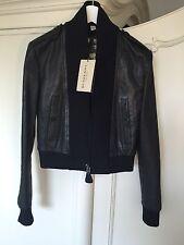 Burberry London Super Rare Women's Bomber Leather Jacket Blazer NEW RRP £1550