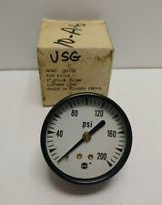 New Old Stock Usg 2 0 200 Psi 14 Pressure Gauge 163799