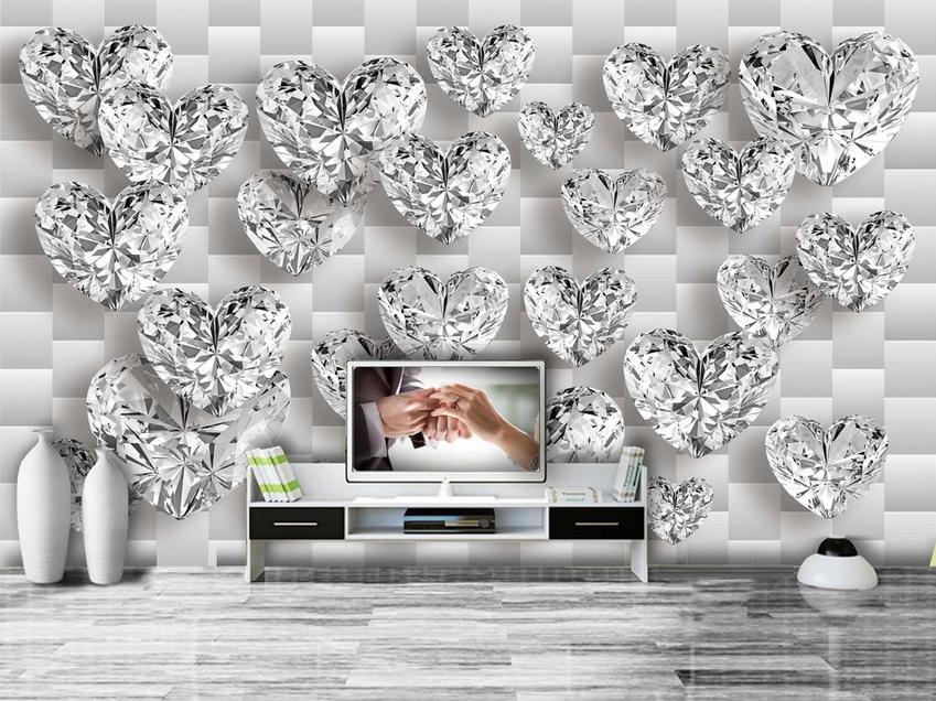 3D Diamond 417 Wallpaper Murals Wall Print Wallpaper Mural AJ WALL UK Carly