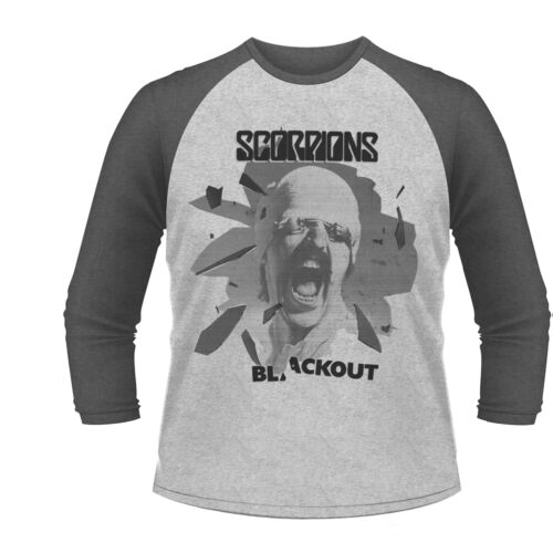 Scorpions /'Black Out/' Baseball T shirt NEW OFFICIAL