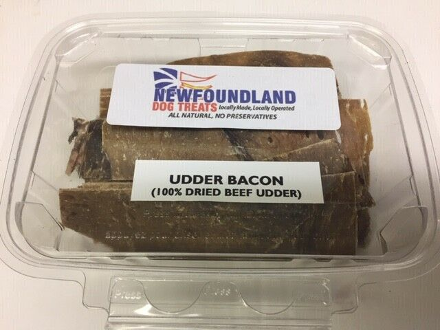Udder Bacon Dehydrated 100 g each X 10 10 tubs like the one pictured