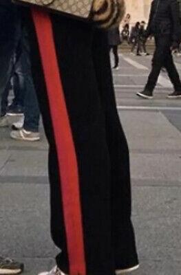 Zara Pantaloni Palazzo Con Bande Laterali Fuxia E Rosso XS | eBay