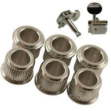 6 adaptador de conversión de Cromo Bujes para los sintonizadores de cabezas de la máquina Genuino Kluson