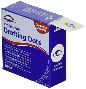 1000-pc-Alvin-PROFESSIONAL-Drafting-DOTS-DM123-Made-in-USA