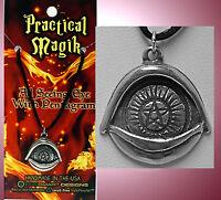 Pentacle all Seeing Eye Practical Magic Pentagram Amulet Wicca Pagan Pendant