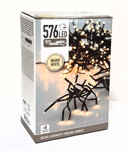 576 LED Büschel Lichterkette WARMWEISS mit Funktion Beleuchtung Innen Außen NEU