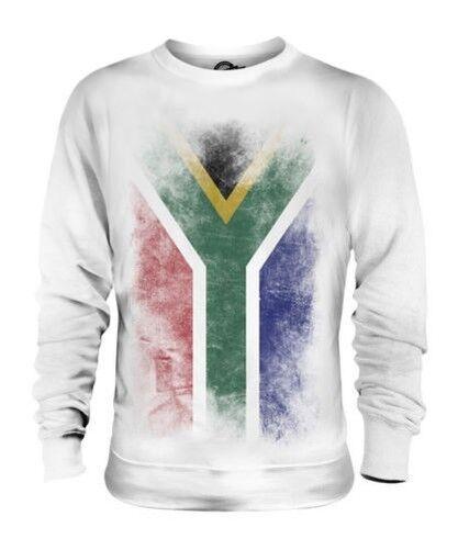 Afrique Du Sud Décoloré Drapeau Unisexe Pull Suid-Afrika Foot Africaine Chemise