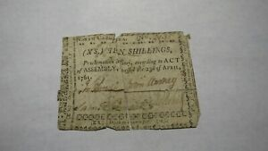 1761-10-Shillings-North-Carolina-Colonial-Currency-Note-Bill-Revolutionary-War