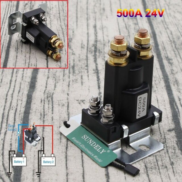 UK 4 Pin Over 500A AMP DC 12V Relay On//Off Car Auto Power Switch Contactor