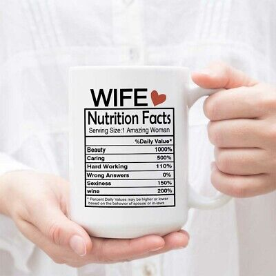 Wife Nutrition Facts Mug Valentines Day Gifts For Wife Her Best