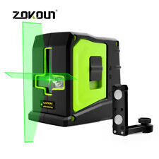 Zokoun 2 Lines Green Laser Level Vertical Horizontal Cross Line Magnetic Bracket
