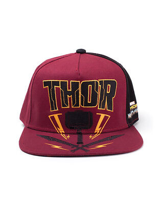 OFFICIAL MARVEL COMICS - THOR: RAGNAROK THOR'S HAMMER RED SNAPBACK CAP (NEW)