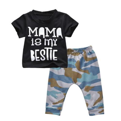 Newborn Baby Boys Girls Tops Romper Bodysuit Jumpsuit Pants Outfits Clothes Cute