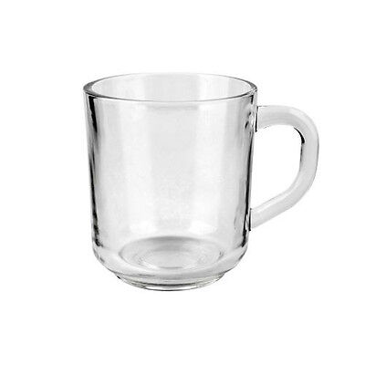 Set of 6 Tea Coffee Cappuccino Hot Drink Glasses Cups Glass Mugs New