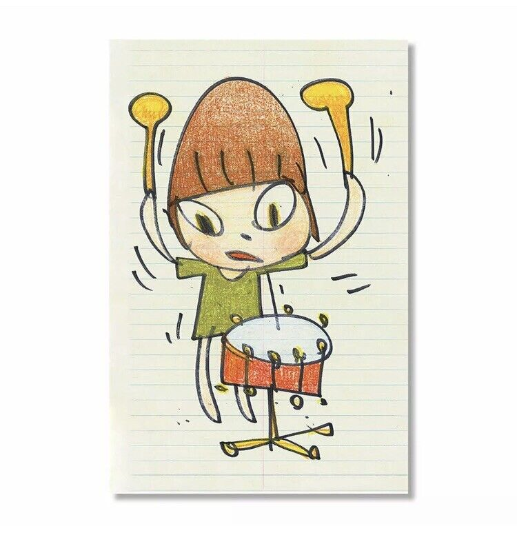 Yoshitomo Nara Banging the Drum Print # of 1000 - IN HAND on eBay thumbnail
