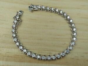 Ross-Simons-Sterling-Silver-Cubic-Zirconia-Heart-Tennis-Bracelet