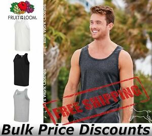 Fruit-of-the-Loom-Mens-HD-Cotton-Tank-Top-Shirt-Blank-39TKR-up-to-3XL